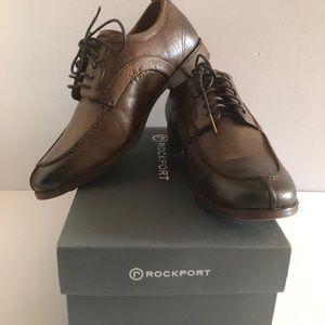 ROCKPORT PH Moc hazelnut brown leather size 8 EUC